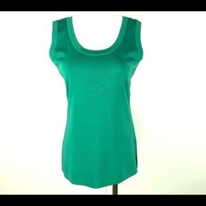 Exclusively Misook Green Sleeveless Top Size XS